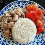 Adobo pork rice