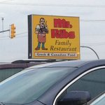 Outdoor signage, Mr. Ribs  |  Main St. SW, Neepawa, Manitoba, Canada