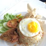 Nasi goreng, big portion