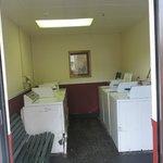 Washing machine room. Pretty cramped.