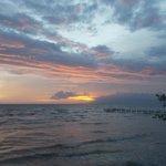 Sunset view during rainy season