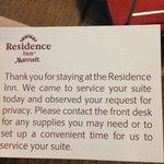 Housekeeping Card