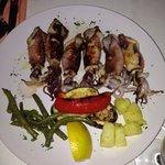 Calamari alla griglia con verdure