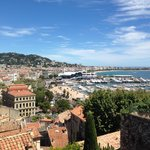 View from the top over Cannes