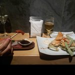 Tempura y sashimi