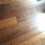 Bungalow scratched floor.