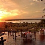 Our viewing deck overlooking the Chobe Plains