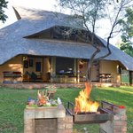 Lokuthula Lodges can be booked on a B&B basis or fully self catering