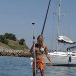 Stand up paddle dans le port de Sauzon