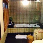 Bathroom in deluxe bungalow