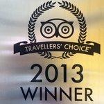 Award in 2013 Tripadvisor