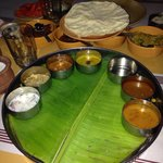 South Indian thali meal