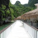 walkway to overwater cottages