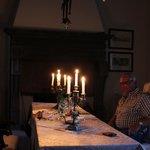 cena a lume di candela in sala Guidobaldo