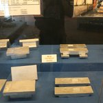 Various forms of the end product tin are on show