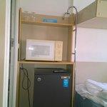 Микроволновка и холодильник в номере