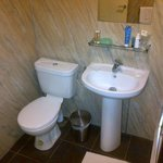 The ensuite basin and toilet