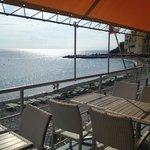 terrazza sul mare dove abbiamo pranzato