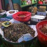 Dried fish at market