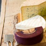 A wide selection of cheeses in our deli.