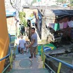 Touring the favela.
