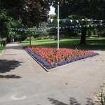 Flower bed in the park
