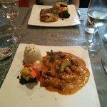 Aroma- beef stroganoff and chicken piri piri