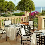 Dine on the terrace, savour the sundown and the endless open Mediterranean Sea.
