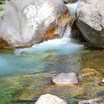La Levenza river runs through the villige