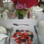 Fruit Plate to begin Breakfast