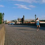 Monday Morning Running over the Charles Bridge