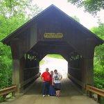 Vermontology customers at the Emily's Bridge- Vermont Tours