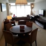 our dining table and family room