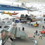 Most of the planes inside the museum