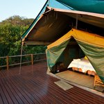 Luxury tented camps...
