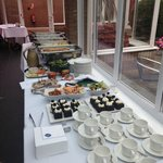 Lunch buffet for networking meeting