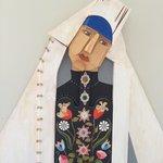 Folk art on wall