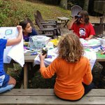 Craft time outside the cabin
