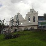 O lindo Convento São Francisco, na época, em obras de restauração.