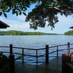 view of the lagoon from thebungalows