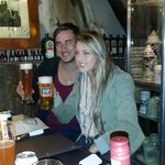 Matthew and Suné, doing some Beer Tasting.