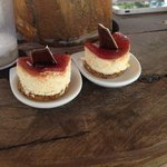 hors dourves and desserts served on the beach!