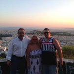 Overlooking Athens with Andreas