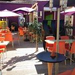 Le Patio : terrasse intérieure du restaurant