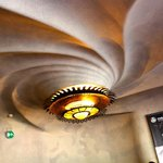 The snail shape ceiling light
