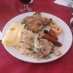 Comida en el restaurante
