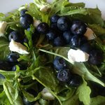 Blueberry Arugula salad. delicious