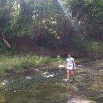 Walk through Squaw Creek and splash around!