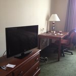 Hotel Room Desk & TV
