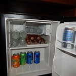 Our mini fridge was filled everyday
